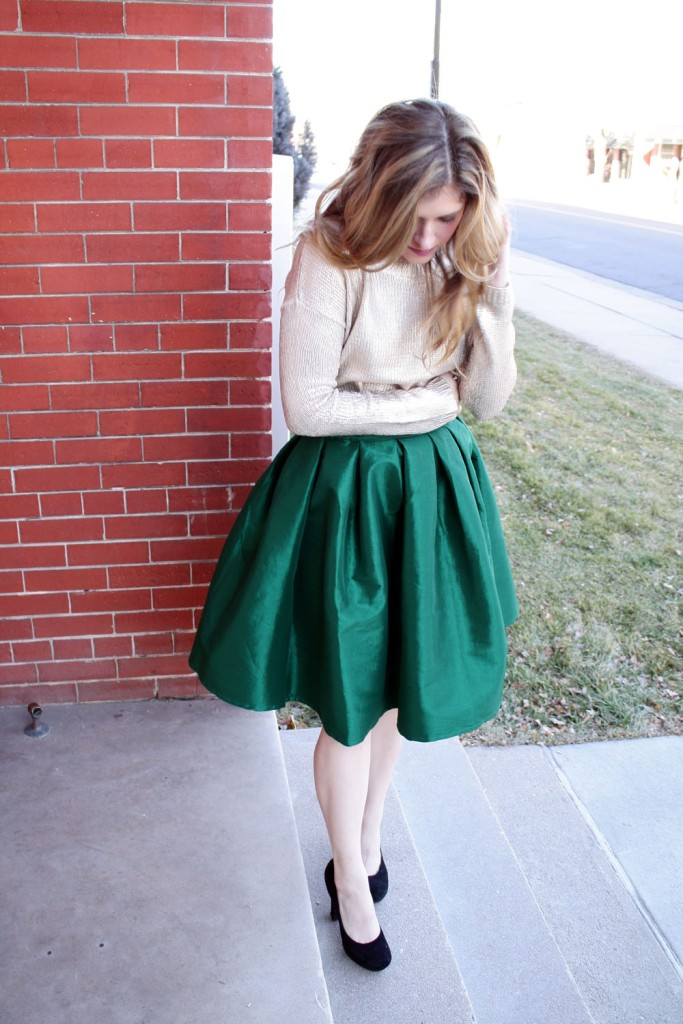 Festive Holiday Outfit // My Boring Closet
