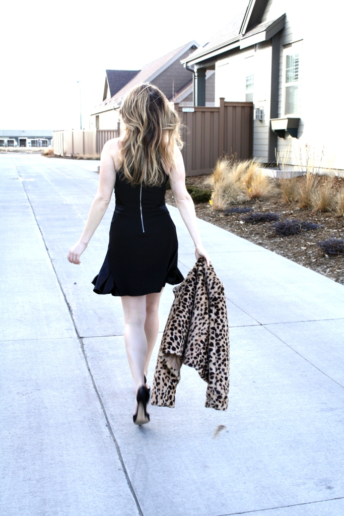 Black Skater Dress via My Boring Closet